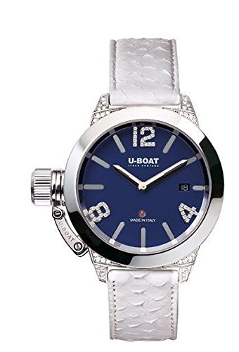 U-Boat Classico Automatic Watch, Diamonds, Blue, 40mm, Limited Edition, 7077