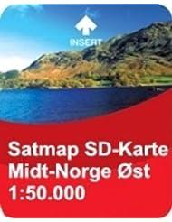 Satmap Karte Norwegen Midt Norge Ost