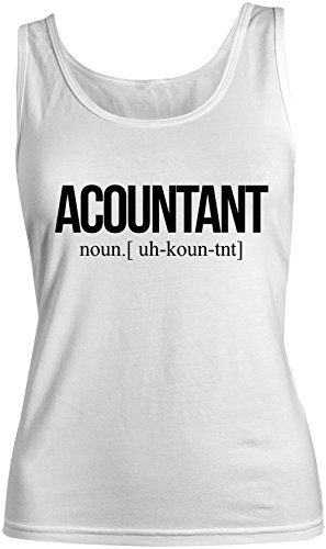 Accountant Amusant Femme Tank Top Debardeur Blanc