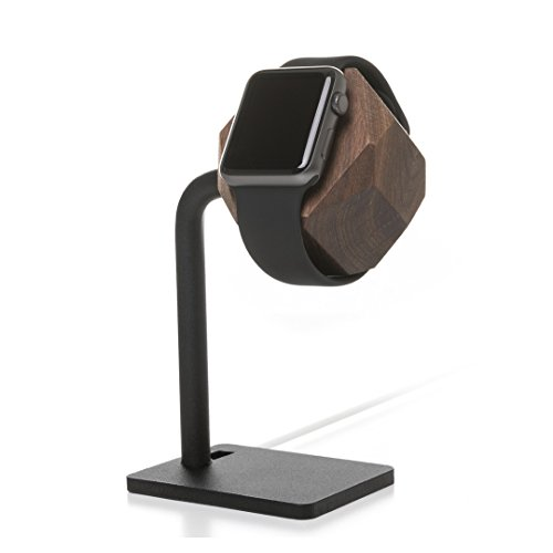 Woodcessories - kompatibel mit AppleWatch 1,2,3,4 aus FSC-Holz - EcoDock Watch (Walnuss) -