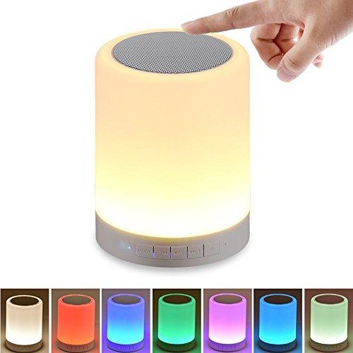 Touch-lampen (Kepeak Bluetooth Lautsprecher Lampe, Smart Touch Control dimmbare Farbe Lampe für Schlafzimmer Schlafhilfe, beste Geschenk für Kinder, Jugendliche und Erwachsene)