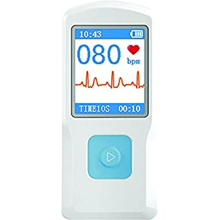 Portable ECG Monitor Handheld Heartbeat Rate Machine with Bluetooth Transmission