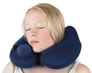 musegear cuscino da viaggio | Cuscino per la nuca gonfiabile in pile super morbido con tecnologia igienica | per un sonno tranquillo anche durante il viaggio in tram, aereo o treno | Cornetto per nuca