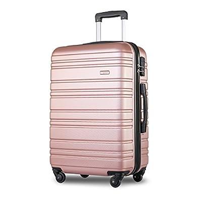 Merax ® Lightweight Hard Shell 4 Wheel Travel Trolley Suitcase Luggage Set Holdall Cabin Case