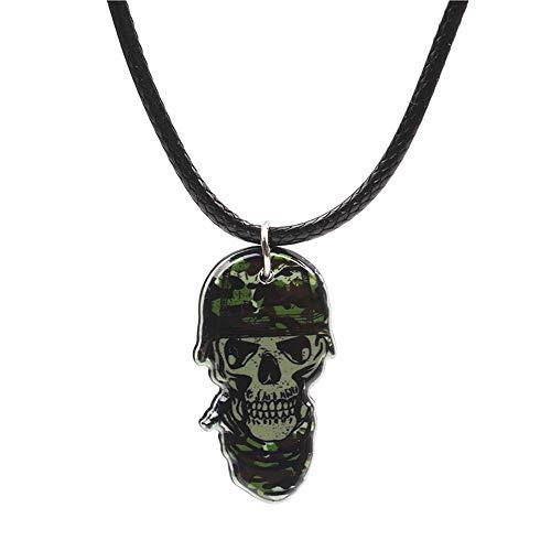 ANLW Collier Squelette Crâne Chaîne De La Clavicule Collier Fantôme Tête Collier Halloween Bijoux Accessoires 4 Stück