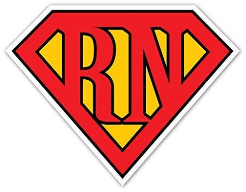Slick Prints Superman Inspiriert Logo Superman Shield für Registriert Krankenschwestern RN Cool Design Emblem Dichtung Vinyl Aufkleber Bumper Aufkleber 12,7x 12,7cm (Zoll)