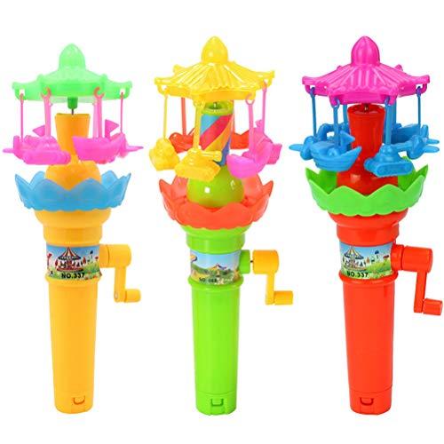 Toyvian Griff Rotary Spielzeug Beleuchtung Rotierenden Karussell Frühe Bildungsentwicklung Spielzeug (Gelegentliche Stile und Farben) -