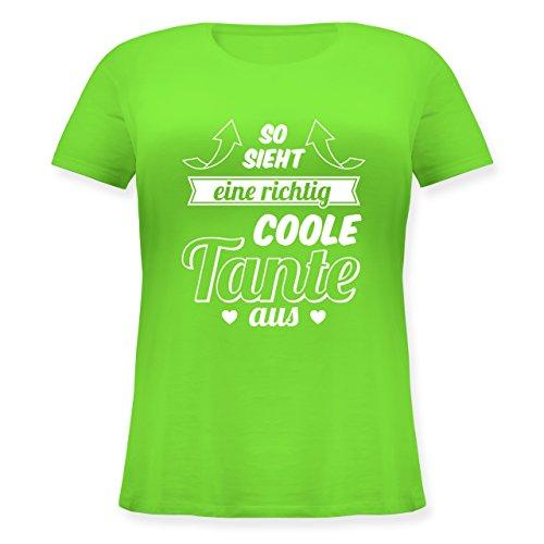 Shirtracer Schwester & Tante - So Sieht eine Richtig Coole Tante Aus - Lockeres Damen-Shirt in Großen Größen mit Rundhalsausschnitt Hellgrün