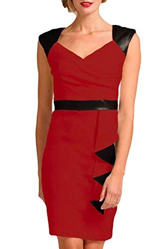 E-Girl femme Rouge SY21584-2 robe moulante Rouge