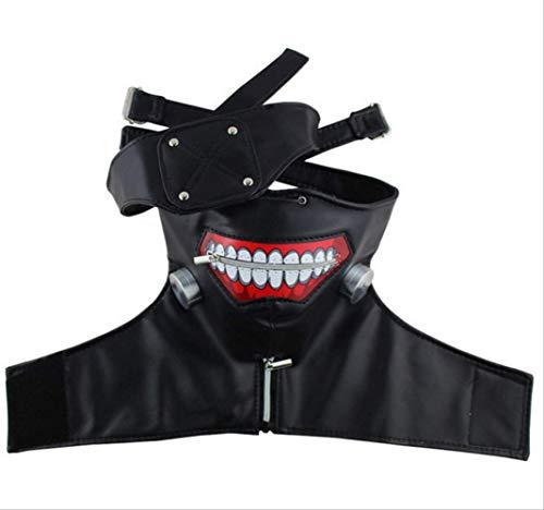 baoqsure Latex-Maske Halloween Maske Geschenke Für Männer Tokyo Ghouls Maske Reißverschlussbrille Maske Anime Cosplay Maske