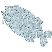 niboline Rutschfeste Badematte Fisch oder Fuß Saug-matten Star-Line Anti-Rutsch Wanneneinlage für Kinder und Babies für Badewanne (3404981 transparent)