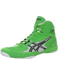 ASICS Men s Cael V5.0 Wrestling ShoeElectric Green/Black/White10.5 M US
