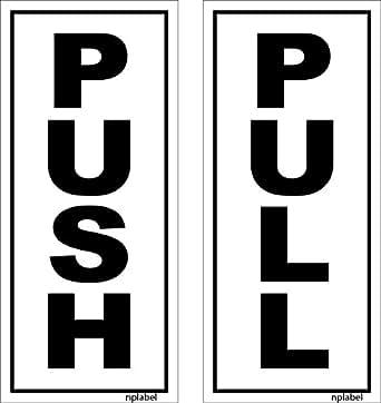 nplabel push pull label push pull sticker aluminum 75x170mm self