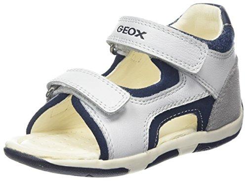 Geox Baby Jungen B TAPUZ Boy C Sandalen, Weiß (White/Navy), 20 EU