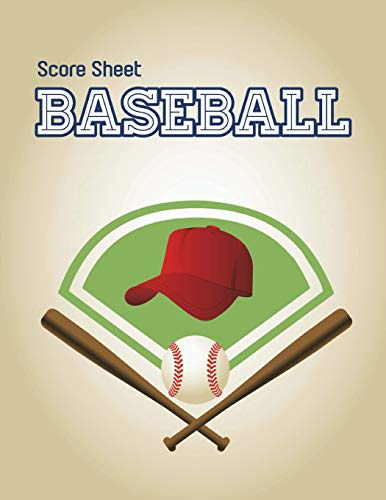 Baseball Score Sheet: Baseball Game Record Keeper Book, Baseball Score, Baseball score card has many spaces on which to record, Size 8.5 x 11 Inch, 100 Pages por Narika Publishing