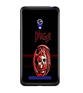 PrintDhaba Danger D-4262 Back Case Cover for ASUS ZENFONE 5 A501CG (Multi-Coloured)