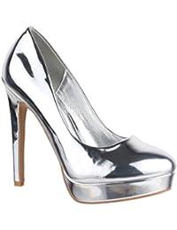 Suchergebnis auf Amazon.de für  silber high heels - Trichterabsatz ... 80b66804f2
