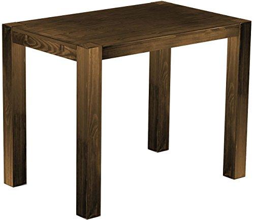 Brasil Meubles Haut Table 'Rio Kanto' 140 x 90 x 109 cm, Pin Parasol Bonito Bois Massif, Teinte chêne Vieilli