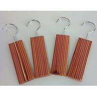 Set of 4 Moth Repellent Hanging Cedar Wood Blocks