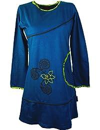 Mini vestido hippie Chic Boho vestidos cortos/colour azul