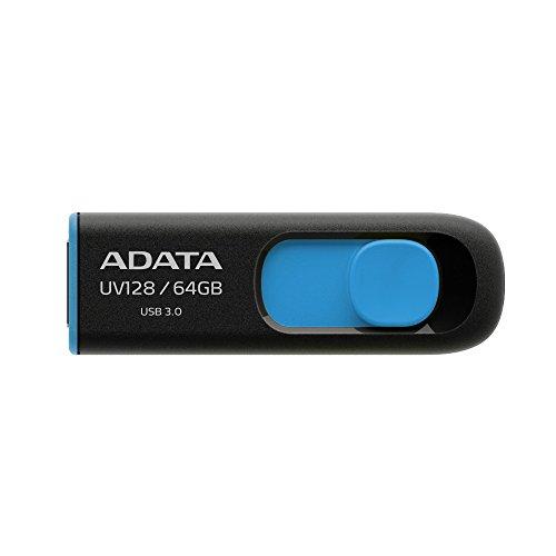 ADATA 64GB DashDrive UV128 64GB USB 3.0 3.1 Gen 1 Type-A Black,Blue lowest price