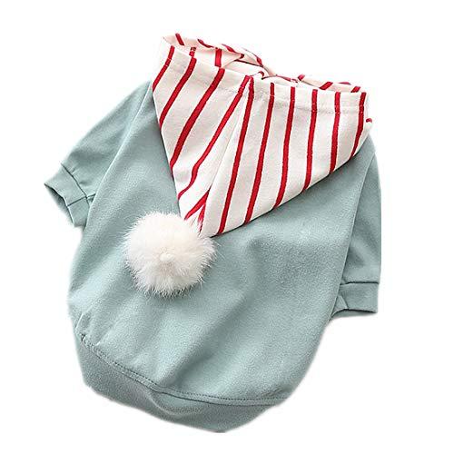 PZSSXDZW Haustierhundekleidung 2019 Neue Hundekleidung Baumwollstretch Welpe Teddy,Blau,L (Damen Für 2019 Neue Halloween-kostüme)