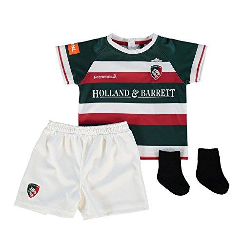 Kooga Leicester Tigers 2016/17 Startseite Infants Replica Rugby Kit, Grün, 3-6 Monate