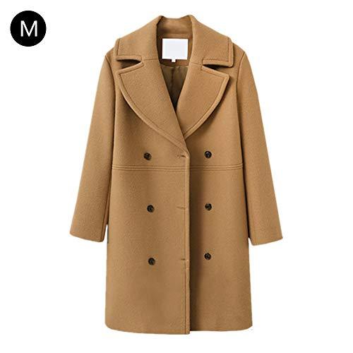 无 Women's Winter Coat Double Breasted Wool Coat Winter PEA Coat 4