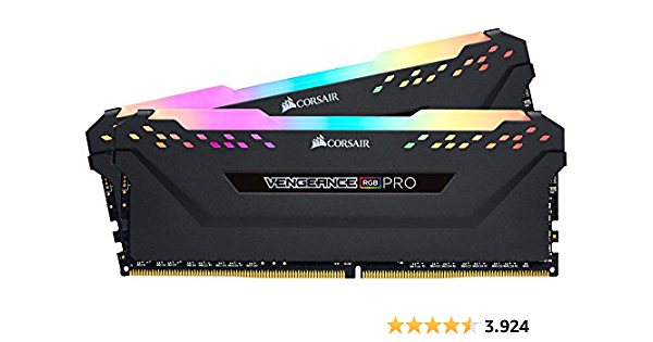 Corsair Vengeance RGB PRO Black DDR4-RAM 3600 MHz 2x 8GB memoria