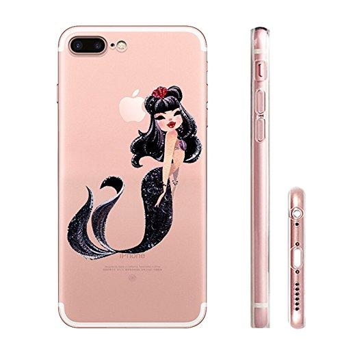 IPHONE 7 Hülle Meerjungfrau Ananas Liebe Muster TPU Silikon Schutzhülle Handyhülle Case - Klar Transparent Durchsichtig Clear Case für iPhone 7 MRY1