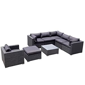 design garten lounge sofa kampen aus aluminium rostfrei neu gartenmoebel garten. Black Bedroom Furniture Sets. Home Design Ideas