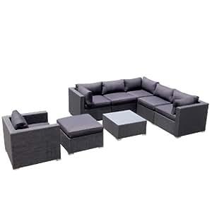 design garten lounge sofa kampen aus aluminium rostfrei neu gartenmoebel garten. Black Bedroom Furniture Sets. Home Design Ideas