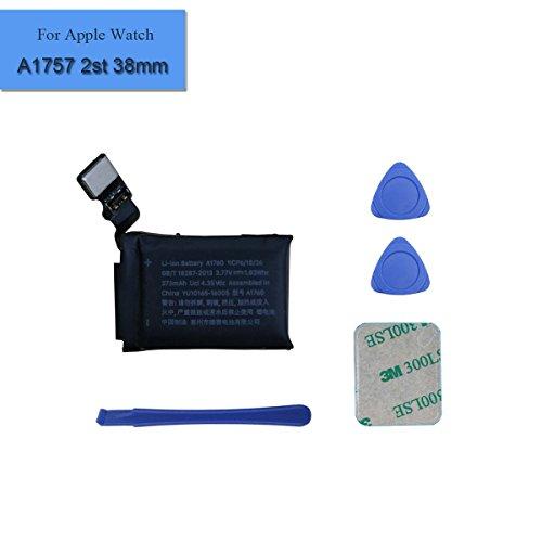 Neuer Ersatzakku A1760 Kompatibel mit Watch Series 2 2st 38mm A1757 Gen MP032LL/A MNNN2LL/A 273mAh 3.77V + Tools