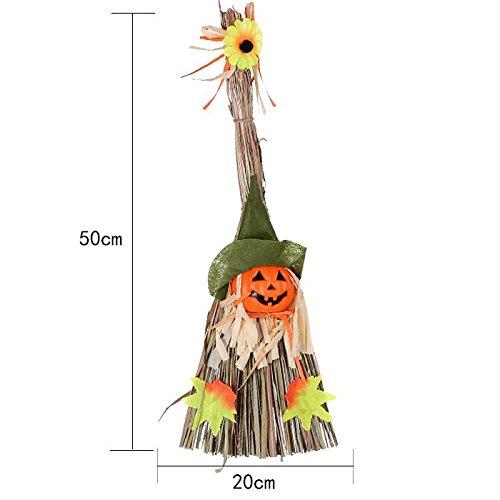 SunBai Halloween Requisiten mall Bar ghost Haus eingerichtet und dekoriert liefert Hexe Kürbis Besen idyllische Vogelscheuche Ornamente, (Anzug Vogelscheuche)