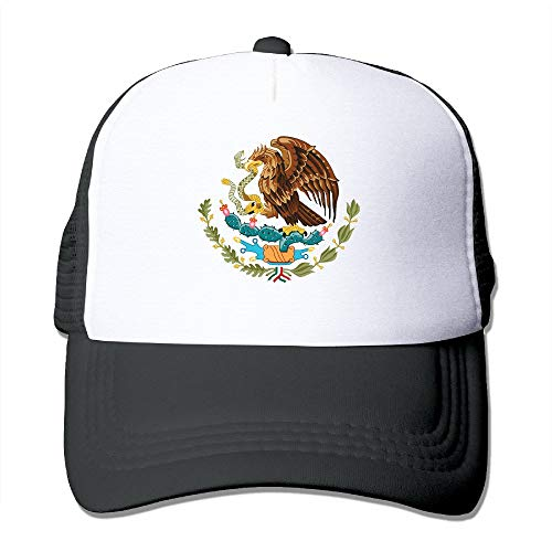 Adult Mexico Coat of Arms Badge Trucker Hats,Unisex Mesh Caps,Snapback Baseball Cap Hat - Coat Band Rack