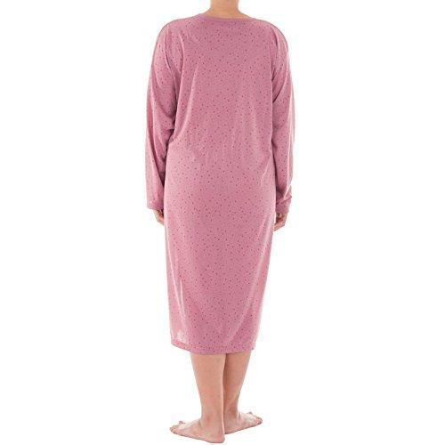 Lucky - Camicia da notte estiva a maniche corte, stampa floreale, taglie: 3XL-6XL, in jersey, toni pastello Altrosa