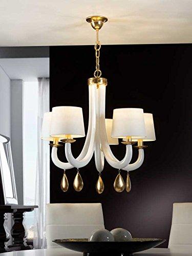 LAMPE ·GRACIA· BLANC OR 5L