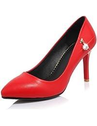 DIMAOL Zapatos de Mujer polipiel Comodidad Bomba Básica Primavera Verano Tacones Stiletto Talón Señaló Toe Rhinestone...
