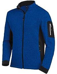 FHB Strickfleece Jacke atmungsaktiv, Farbe:kornblau;Größe:XL