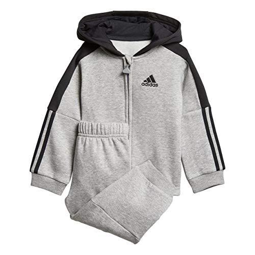 adidas Baby Logo Jogger Fleece Trainingsanzug, Collegiate Royal/Dark Blue, 98
