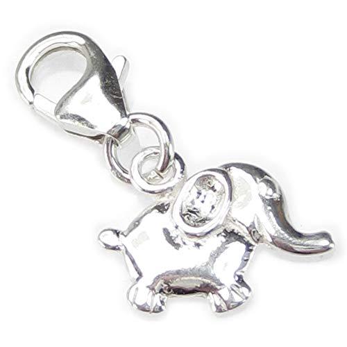 A presión de elefante 9 mm Tamaño pequeño carcasa rígida de plata...
