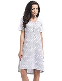dn-nightwear Umstandsmode, Still-Nachthemd aus 100% Baumwolle