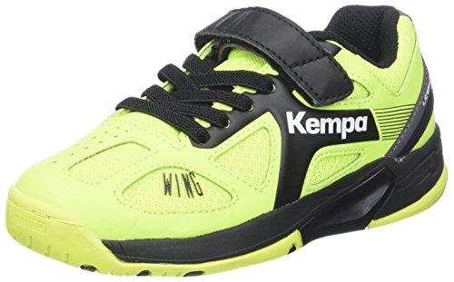 Kempa Unisex-Kinder Wing Junior Caution Hallenschuhe, Mehrfarbig (Fluo Gelb/Anthra/Schwarz), 37 EU (4 UK)