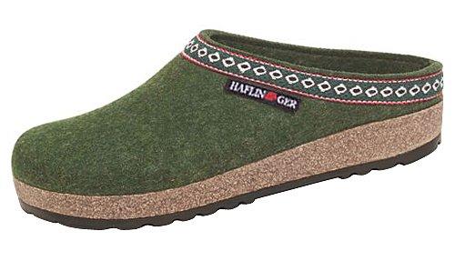 Haflinger Franzl 711001, Pantofole donna Spruce