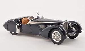 Bugatti 57 SC Corsica Roadster, bleu.-foncé , 1938, voiture miniature, Miniature déjà montée, CMC 1:18