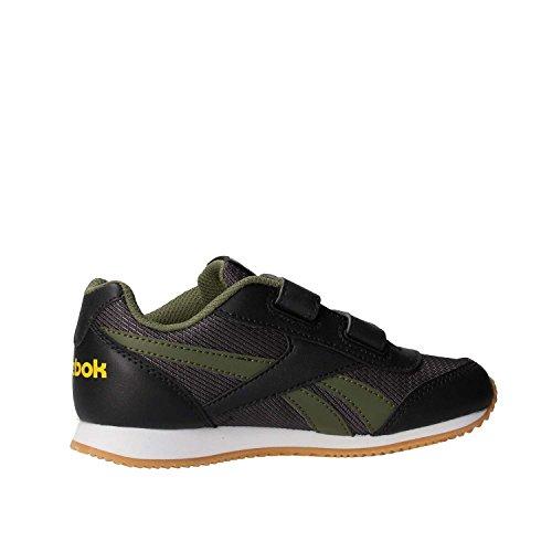Reebok Royal Cljog 2rs 2v, chaussures de course garçon Multicolore (Coal/hunter Green/primal Yellow)