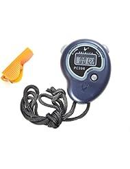 Onshowy PC396 Chronomètre Sport Numérique Chronomètre Compteur Minuterie de sport avec sifflet En Plastique