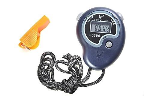 hikeren, Digitale Sport Stoppuhr Timer Chronograph Athletic Armbanduhr mit Uhr Alarm, Kalender und LCD-Display, blau
