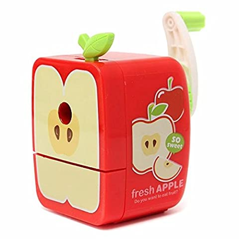 Tutoy Broyeur À Crayons Fruit Rotary Hand Crank Manuel School Papeterie Desktop -Apple