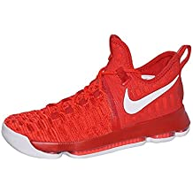 buy popular 44292 ba848 Nike Zoom KD 9 Mens Basketball Shoes (11, University Red White)